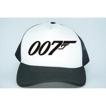 Boné 007 James Bond Aba Curva Trucker Telinha