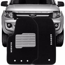 Tapete Carpete Bordado Ford Ranger Cabine Simples 2012/...