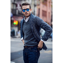 Sweater Cardigan Hollister Tejidos Importado Dia Del Padre