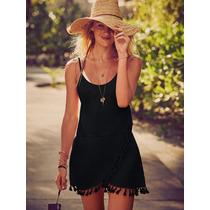 Vestido Playa Negro Beach Sexy S Y M Victoria