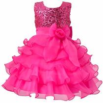 Vestido Crianca Festa. Barbie Princesa. Pink. Lindo