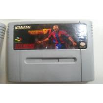 Fita Ronaldinho 97 Jogo Snes Cartucho Super Nintendo Futebol