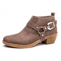Zapatos Mujer Texanas Vison Con Elastico