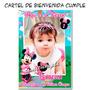 Cartel Bienvenida Cumpleaños Minnie Rosa Personalizado Cfoto