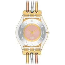 Reloj Swatch Sfk240b Femenino Dorado
