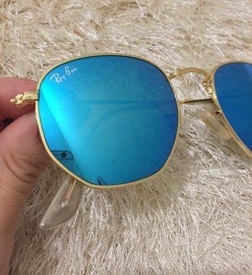 Óculos Sol Ray-ban Hexagonal Azul Espelhado Rb3548 Feminino - R  269,49 em  Mercado Livre 54519036fc