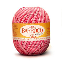 Barbante Barroco Multicolor 400g- Kit 6un-12x - Frete Gratis