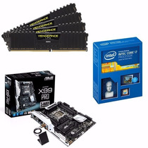 Kit Placa Mãe Asus X99-pro + Intel Core I7 5820k + 16gb Ddr4