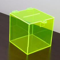 Urna Sorteio Acrilico Verde