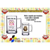 50 Canecas Acrílico Personalizada Dia Dos Professores 300ml
