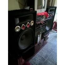 Equipo De Sonido Potente Con Amplificador Y Dos Bajo 18