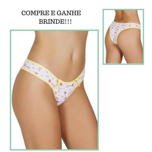 455d9e8fe Kit 10 Tanga Calcinha Algodão Cotton Basica Atacado Lingerie - R$ 62,90 em  Mercado Livre