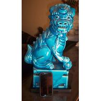 Enormes 48cm Par De Perros De Foo Quimeras Dragones Oriental