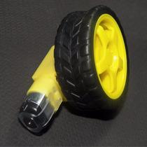 Roda Pneu Motor Dc 3 A 6v Com Redução Robótica Arduino Carro