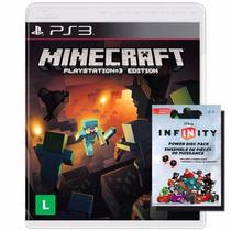 Minecraft Ps3 Lacrado + Infinity Em Português Br