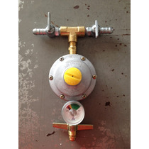 Regulador Registro De Gás Dupla Saída C/ Manômetro, Inmetro