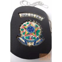 Distintivo Bolachão Juiz De Paz Com Brasão República Emcouro