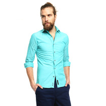 Buckle London - Camisa Casual Verde - Verde - Bkcm020bc