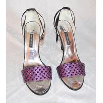 Bélíssimo Sapato Caparros Roxo Luxo Feito À Mão 37 Novo