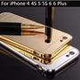 Bumper De Aluminio Acabado Espejo Para Iphone 6 / Iphone 5