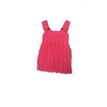 Vestido Bebe Tejido A Crochet - Artesanal - Tienda Inclusiva