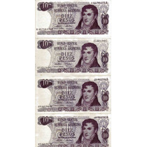 Billetes De 10 Pesos Argentina Ley Nº18.188/69 Sin Circular