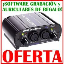 Usb Dual Pre Art Placa Audio Externa Grabación + Auriculares