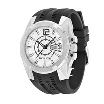 Relógio Police 12154js/01 (borracha, Prateado, Analógico)
