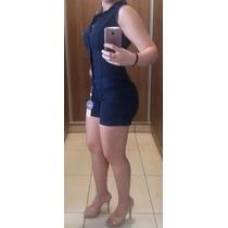 Macacão Jeans Estilo Pitbull Levanta E Modela Bumbum