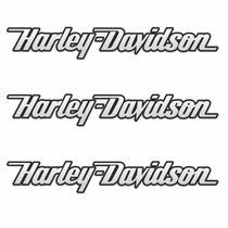 Adesivo Cromado Resinado Harley Davidson Frete Grátis