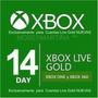 Xbox Live Gold 14 Dias Gift Card Para Xbox One Y Xbox 360