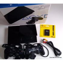 Play 2 Preço + Barato+2 Controles+15 Jogos+memory+garantia
