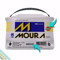 Bateria Automotiva Moura 60ah - Ampéres - M60gd / M60ge