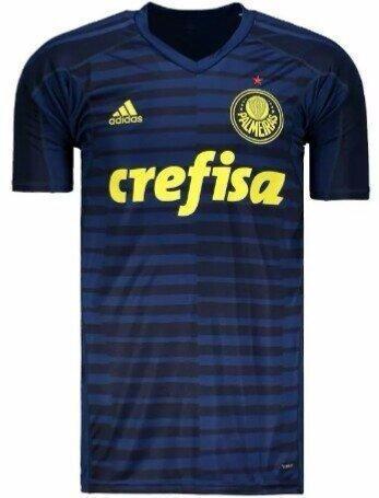 Camisa Azul Palmeiras Goleiro Manga Curta Masculina 2018 - R  140 c5a87a85b057a
