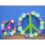 2 Simbolos De La Paz Artesanal. Decorados Al Crochet.
