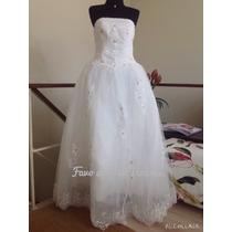 Lindo Vestido De Noiva Ou Debutante. Mod. Bride. Tam. 38/42
