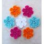 Flores Tejidas Al Crochet X 50 Unidades - Colores A Eleccion