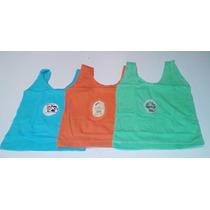 Camiseta Regata Infantil-kit Com 3 Peças-cia Bebê
