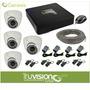 Cctv Kit De 4 Camaras De Seguridad Pixel + Cable +accesorios