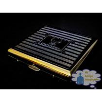 Cigarreras De Metal Cromadas Vintage Grabado Envio Gratis