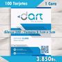 100 Tarjetas De Presentación Full Color 1 Cara