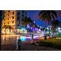 Cuadro Paisaje Miami De Noche En Tela Canvas/bastidor 120x80