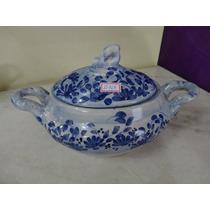 #15764 - Sopeira Oval Porcelana Colonial, Azul Borrão!!!