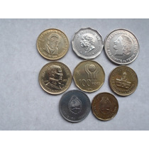 8 Monedas Argentinas Conmemorativas Evita-mundial 78-etc.