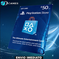 Cartão Psn $50 - Playstation Network Card $50 - Ps4 Ps3 Psp