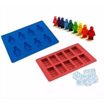 Forma Lego Em Silicone Para Gelo Chocolate Blocos E Bonecos
