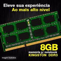 Memoria Ddr3 8gb Notebook 1333mhz Kingston Original Lacrada