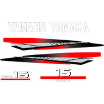 Adesivo Motor De Popa Yamaha 15 Hp Ou 25 Hp Bola 97/2008