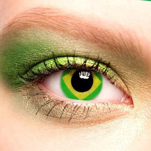 64f62e7b37228 Lentes De Contato Copa - Bandeira Do Brasil - 2015 - Lacrada - R  59 ...