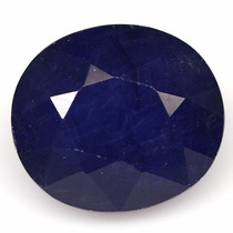 Safira Azul Natural De 8.95 Cts(11.8x10.4mm